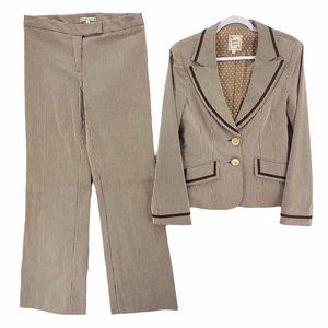 Nanette Lepore Pinstriped Wide Leg Pant Suit